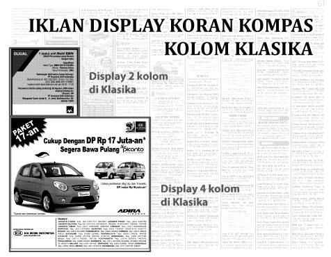 iklan display koran kompas