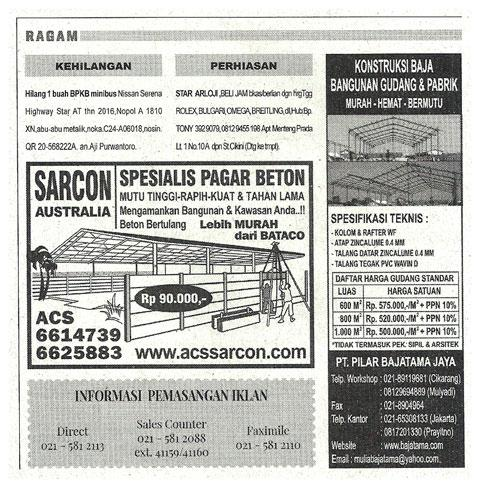 iklan Koran Media Indonesia