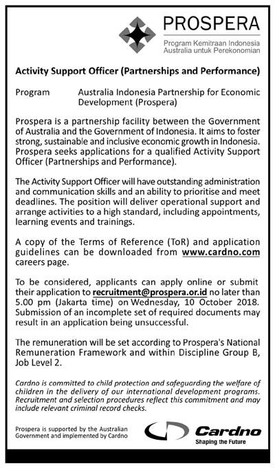 iklan-lowongan-koran-kompas-activity-support-officer